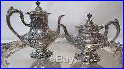 Francis I Reed & Barton Sterling Silver Tea Set 8pc with Sterling Tray
