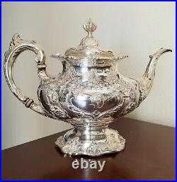 Francis I by Reed & Barton Sterling Silver Tea Coffee Set 5 Piece -D Monogram