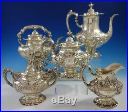 Francis I by Reed & Barton Sterling Silver Tea Set 5pc (#2800) Gorgeous