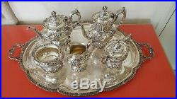 Francis I by Reed & Barton Sterling Tea Set 5pc/tray (Excellent) PRICE REDUCED