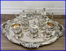 Francis I by Reed & Barton Sterling Tea Set 5pc with tray NO MONO'S