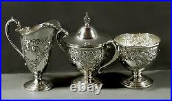 Frank Whiting Sterling Tea Set c1940 HAND CHASED