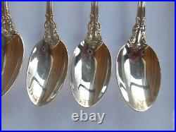 GORHAM CHANTILLY STERLING SILVER ICED TEA SPOON SET OF 6 Use or Scrap 191 Grams