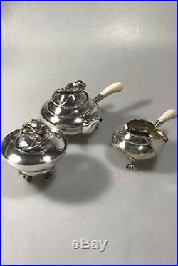 Georg Jensen Silver Blossom Tea set No 2