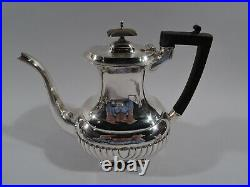 George V Coffee & Tea Set Antique Georgian English Sterling Silver 1918/9