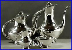 German Sterling Tea Set c1930 OTTO WOLTER