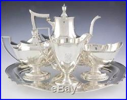 Gorham 4 Piece Sterling Coffee Tea Service Set & Sterling Tray by Whiting