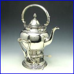 Gorham 7 Pc Sterling Silver Tea Set with Water Kettle & Solid 22 1/4 Tray 165 Ozt
