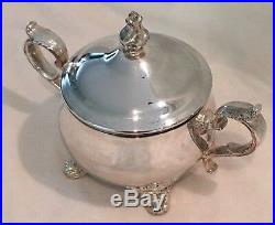 Gorham Centennial Chantilly Silver Plated 5pc Coffee Tea Serving Set with tray