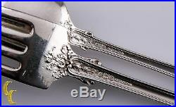 Gorham Chesterfiled Sterling Silver 925 Dinner Forks & Tea Spoons 12 piece Set