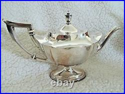 Gorham Plymouth 5 Pc. Sterling Silver Tea Set Beautiful 925