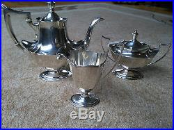 Gorham Plymouth Sterling Silver. 925 3-Piece Tea / Coffee Set Exceptional