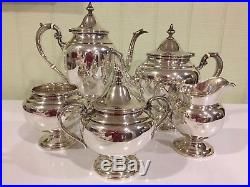 Gorham Sterling Silver Coffee/Tea Set- 5 Pieces Total- Beautiful