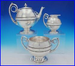 Gorham Sterling Silver Tea Set 3pc withIvy and Acanthus Leaf Motif #213 (#3653)