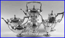 Gorham, Sterling Silver Tea Set With Sterling Tray & Tilting Hot Water. Complete
