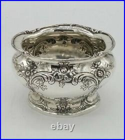 Gorham Sterling Silver Victorian Style Hand Chased Tea & Coffee Set A4121