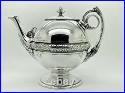 Gorham Sterling Tea Set 5-Piece with Ivy and Acanthus Leaf Motif #213