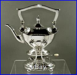 Gorham Sterling Teaq Set Tea Kettle & Stand 1920 Plymouth