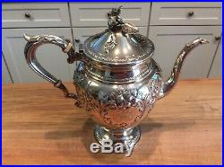 Hirsch Sterling Silver 5 Piece Tea & Coffee Set and Tray
