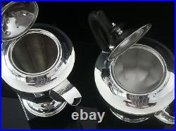 Immaculate Four Piece Sterling Silver Tea Set, Sheffield 1948/50, Emile Viner