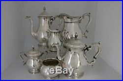 International Prelude Sterling Silver Coffee Tea Set with Water Pitcher