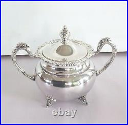 Japanese Mid Century Export Sterling Silver Five Piece Tea Coffee Set 2416 g