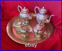 Kirk Repoussee 5 Piece Sterling Coffee Tea Set #474 Not Monogrammed