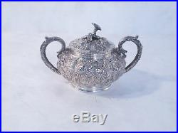 Kirk & Sons Sterling Repousse Tea & Coffee Set 6 Pieces And Tray