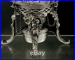 Kirk Sterling Tea Set Kettle & Stand c1905 Hand Decorated