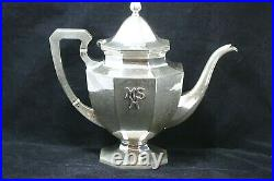 Lebolt & Co. Antique Hand Hammered Sterling Silver Coffee and/or Tea Set