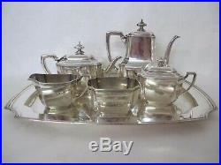 MAGNIFICENT C. 1900 TIFFANY HAMPTON PATTERN 6 PIECE TEA SET withSTERLING TRAY