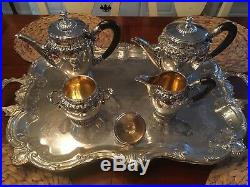 MUSEUM QUALITY 5 PC HEAVY ca. 1936 MILAN STERLING FRENCH STYLE COFFEE / TEA SET