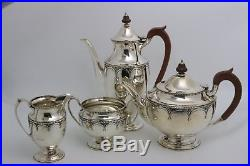 Mappin and Webb Sterling Silver Coffee Tea Set Art Deco Design