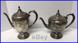 Mermod Jaccard King Sterling Silver Tea Coffee Set 1871 Grams