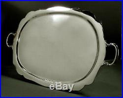 Mexican Sterling Tea Set Tray c1950 J. Torres No Monogram