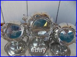 ON SALE Vintage Juventino Lopez Reyes Sterling Silver Tea Set with Tray