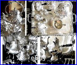 OUTSTANDING SET for TEA or COFFEE in French Sterling Silver 8820 Grams 8 KILO