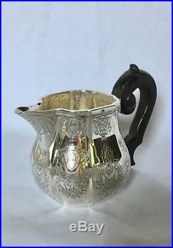 PUIFORCAT ÉLYSEE FRENCH RÉGENCE STYLE STERLING SILVER 3 PC TEA or COFFEE SET