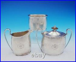 Pointed End by Arthur Stone Sterling Silver Tea Set 6pc Arts and Crafts (#3527)