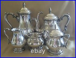 Prelude by International Sterling Silver Coffee & Tea Set Five 5 Pieces