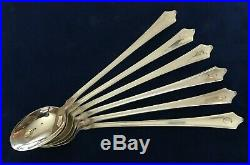 ROGER WILLIAMS 1918 Sterling by Baker-Manchester Iced Tea Spoons Set of 6 Spoons