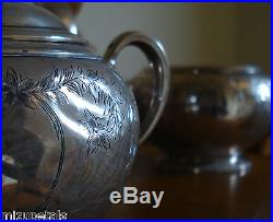 Rare Antique S Kirk & Son Sterling Coffee & Tea Set 59.71 Troy ozs. Not Scrap