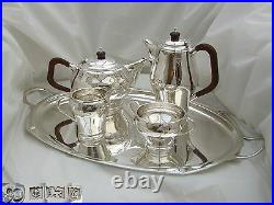 Rare Qe II Hm Sterling Silver 4 Piece Tea Set And Tray