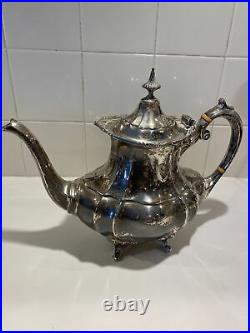 Reed And Barton 4 Piece Hampton Court 660 Tea Set. 925 Sterling Silver