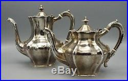 Reed And Barton Sterling Silver Antique 6 Piece Tea Coffee Set Inc Streling Tray