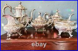 Reed & Barton Burgundy 5 Piece Sterling Silver Tea & Coffee Set