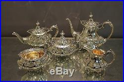 Reed & Barton Hampton Court 5 Piece Tea Set In MINT Condition. The Perfect Gift