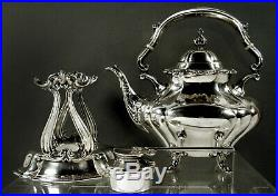 Reed & Barton Sterling Tea Set Kettle & Stand c1950 No Mono