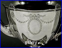 Reed & Barton Sterling Tea Set c1920 Hand Decorated