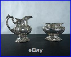 Reed and Barton sterling silver Francis 1st 5pc tea set with tray c. 1937